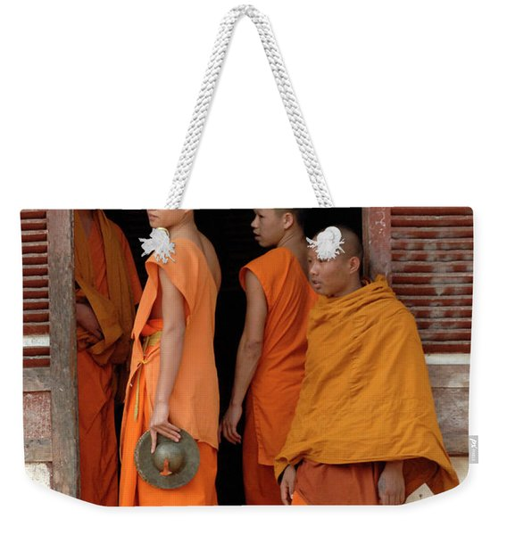 Young Monks Laos 2 Weekender Tote Bag