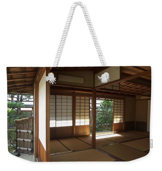 Zen Meditation Room Open To Garden - Kyoto Japan Weekender Tote Bag