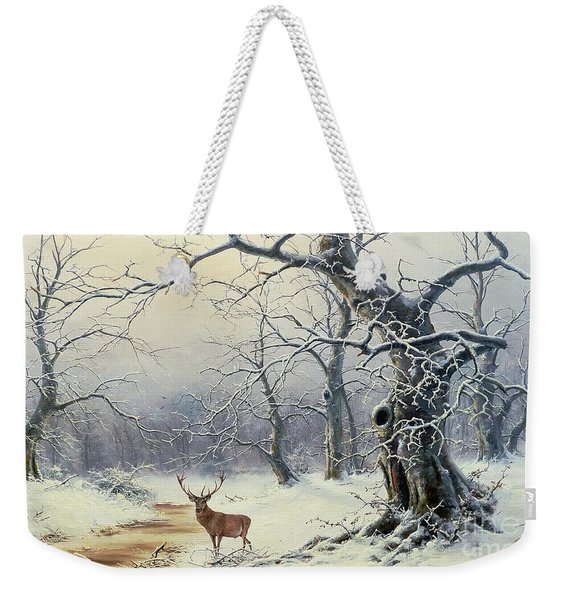 A Stag In A Wooded Landscape  Weekender Tote Bag