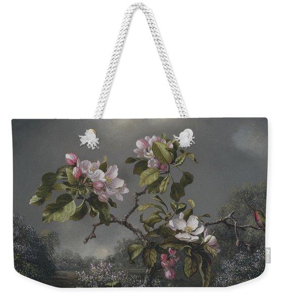 Apple Blossoms And Hummingbird Weekender Tote Bag