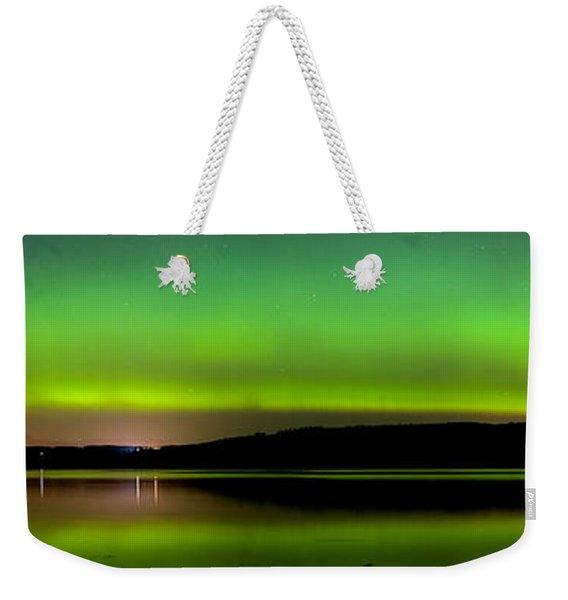 Aurora Over The Beauly Firth Weekender Tote Bag