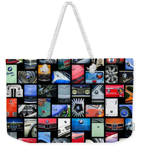 Weekender Tote Bag featuring the photograph  Bmw Art -01 by Jill Reger