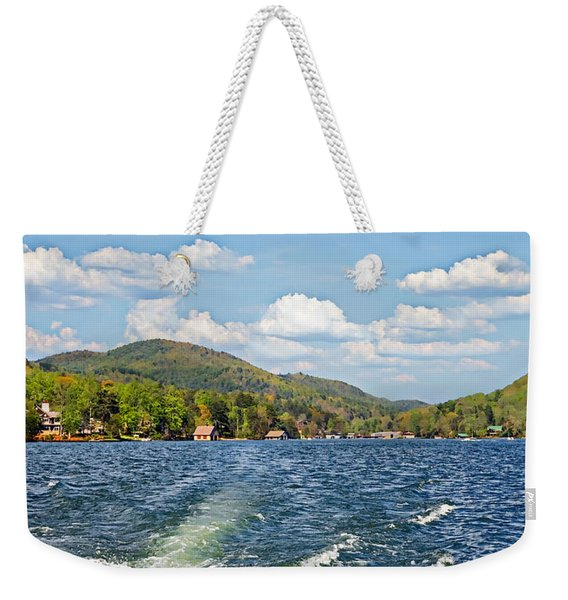 Boat Ride Digital Art Weekender Tote Bag