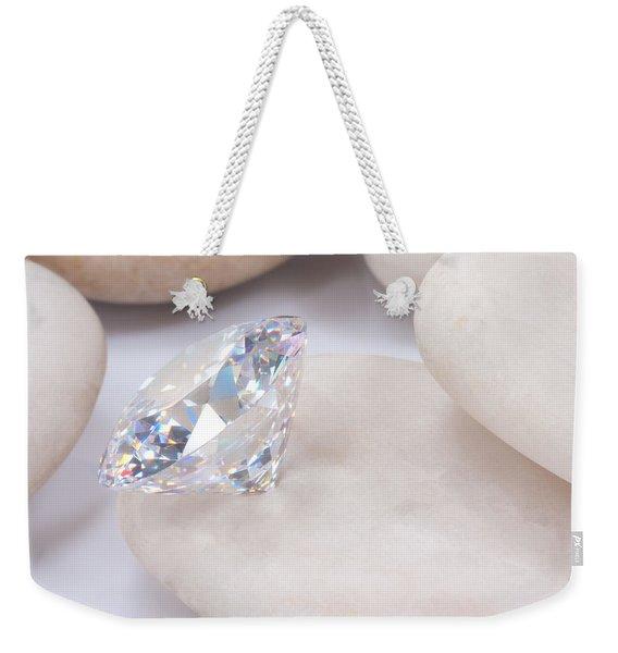 Diamond On White Stone Weekender Tote Bag