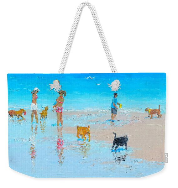Dog Beach Day Weekender Tote Bag