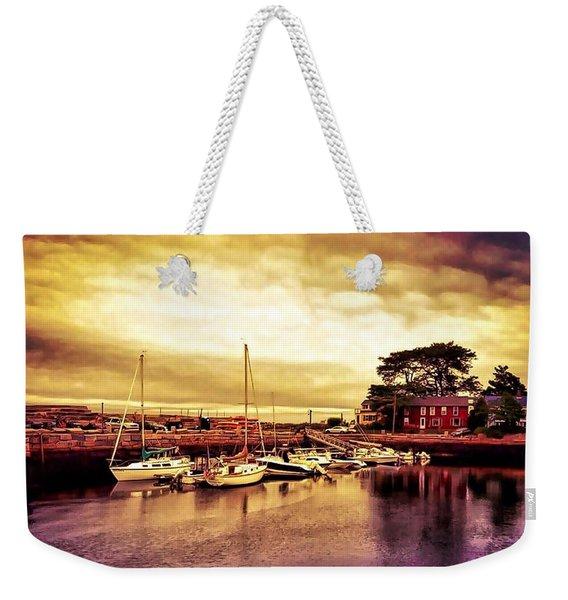 Down At The Dock Weekender Tote Bag