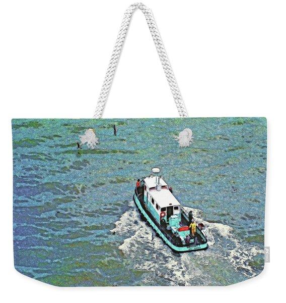 Fishing Boat In San Francisco Bay Weekender Tote Bag