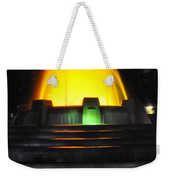 Mulholland Fountain Reflection Weekender Tote Bag