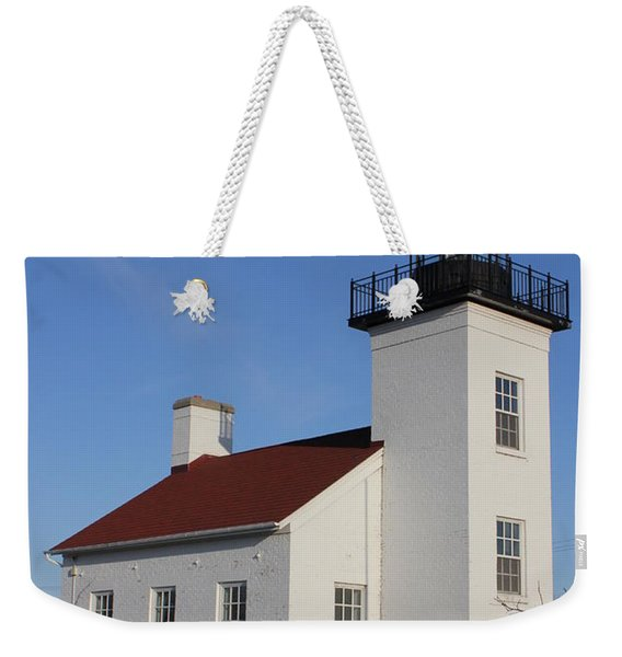 Sand Point Lighthouse Escanaba Weekender Tote Bag