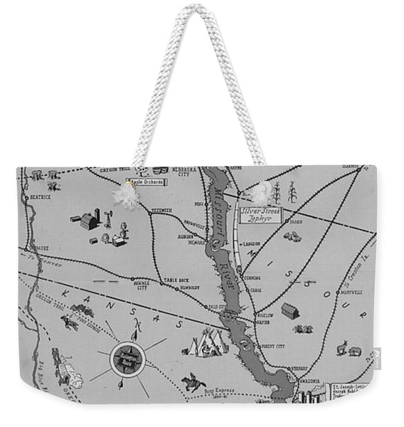 The Burlington Route Indian Trails To Steel Rails Weekender Tote Bag