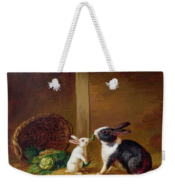 Two Rabbits Weekender Tote Bag