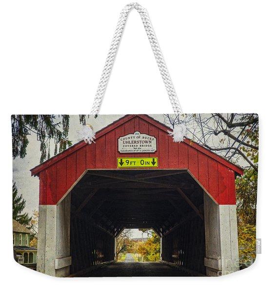 Uhlerstown Covered Bridge Iv Weekender Tote Bag