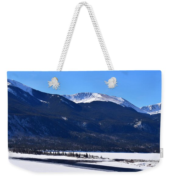 Weekender Tote Bag featuring the photograph Twin Lakes Leadville Co by Margarethe Binkley