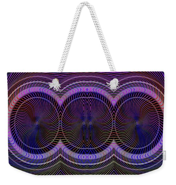 Weekender Tote Bag featuring the digital art #012820153 by Visual Artist Frank Bonilla