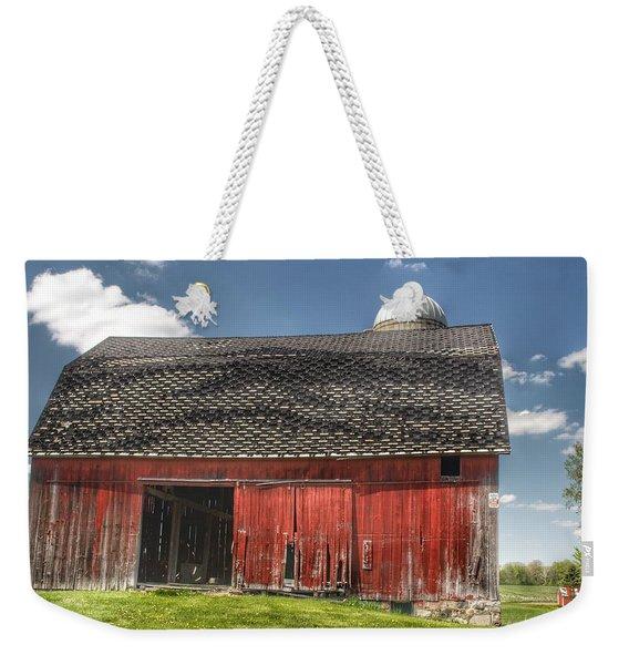 0181 Hollenbeck Road Red II Weekender Tote Bag