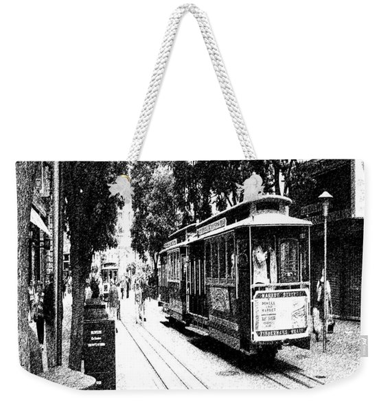021016 San Francisco Trolly Weekender Tote Bag