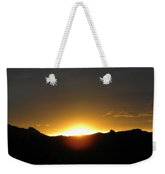 Weekender Tote Bag featuring the photograph Sunrise West Side Of Rmnp Co by Margarethe Binkley