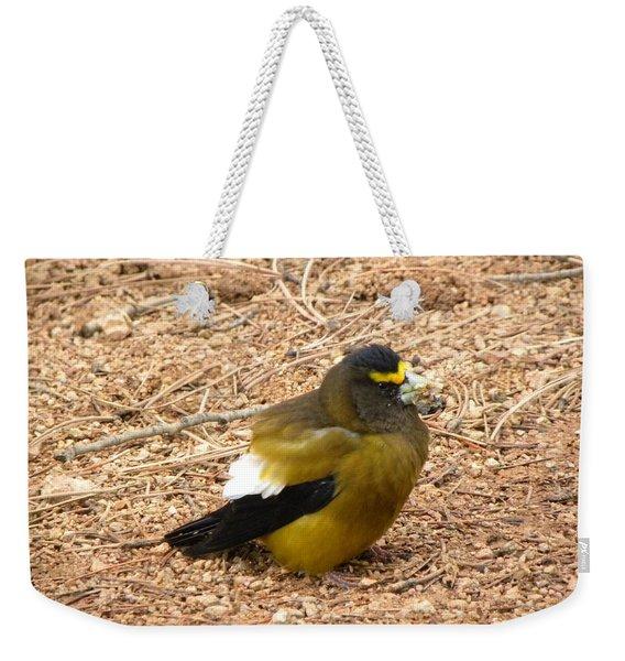 Evening Grossbeak Divide Co Weekender Tote Bag