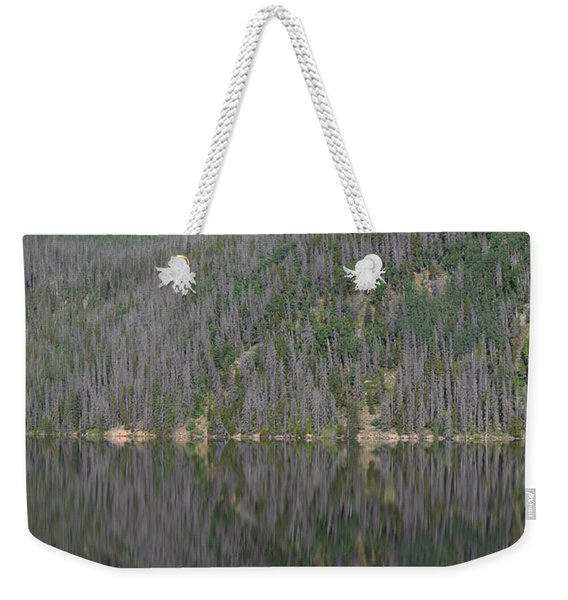 Weekender Tote Bag featuring the photograph Chambers Lake Reflection Hwy 14 Co by Margarethe Binkley