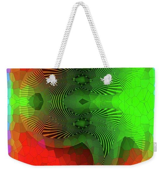 Weekender Tote Bag featuring the digital art #061120172 by Visual Artist Frank Bonilla