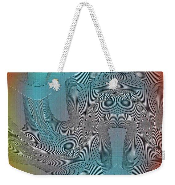 Weekender Tote Bag featuring the digital art #061220172 by Visual Artist Frank Bonilla