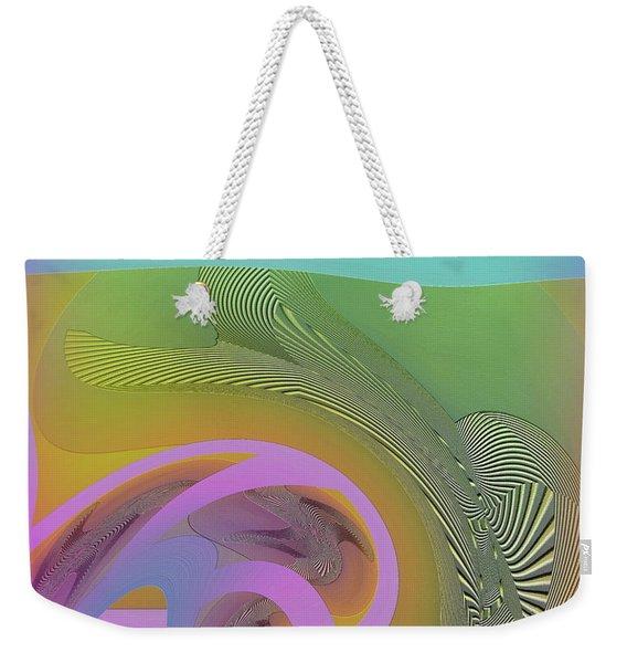 Weekender Tote Bag featuring the digital art #061220173 by Visual Artist Frank Bonilla