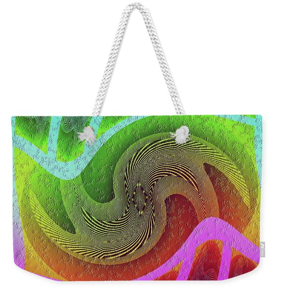 Weekender Tote Bag featuring the digital art #061520171 by Visual Artist Frank Bonilla