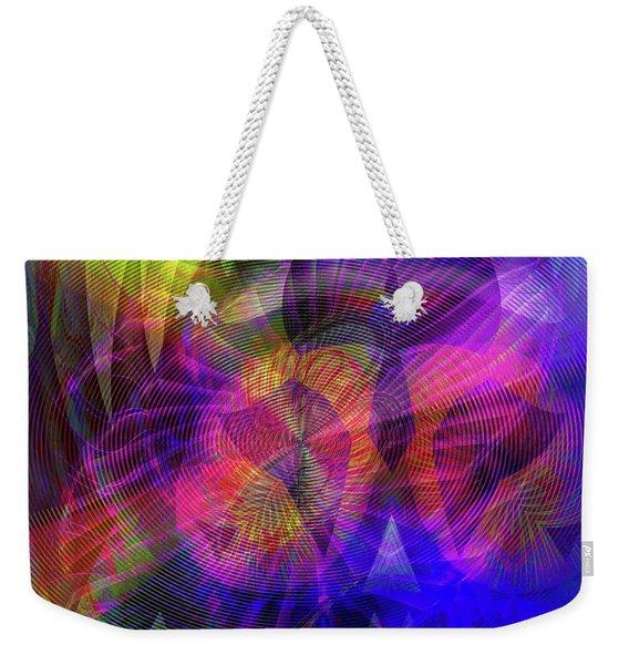 Weekender Tote Bag featuring the digital art 071020172 by Visual Artist Frank Bonilla