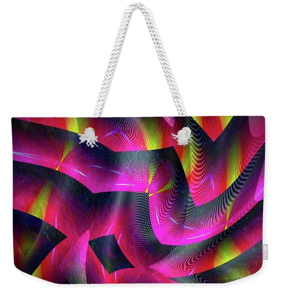 Weekender Tote Bag featuring the digital art 071220176 by Visual Artist Frank Bonilla