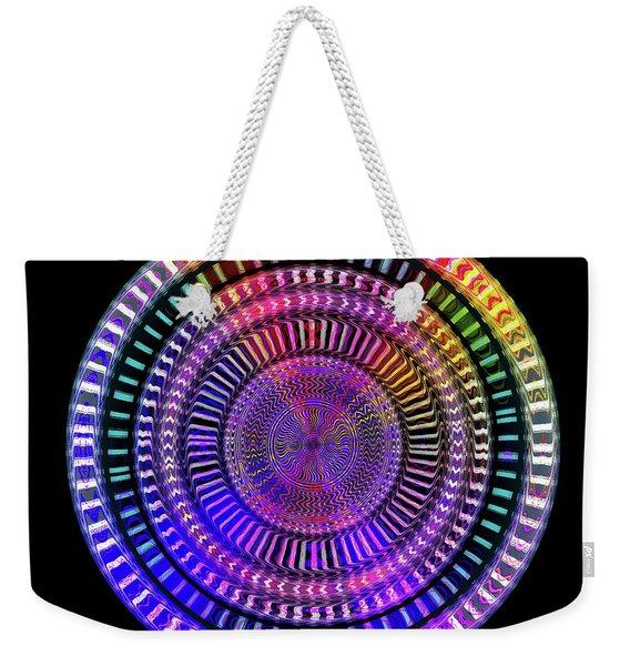 Weekender Tote Bag featuring the digital art #092720161 by Visual Artist Frank Bonilla
