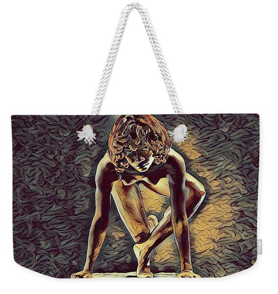 0948s-zak Dancer Balanced On Pedestal In The Style Of Antonio Bravo  Weekender Tote Bag