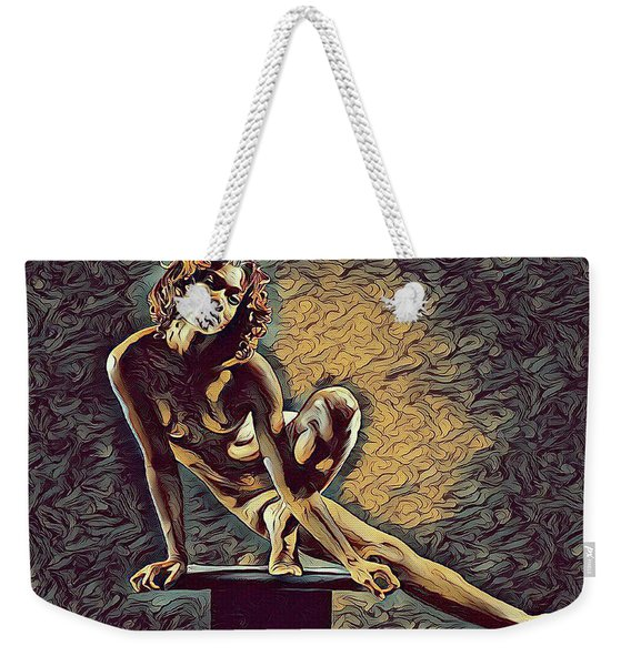 0953s-zac Casual Balance Black Dancer Graceful Strong In The Style Of Antonio Bravo Weekender Tote Bag