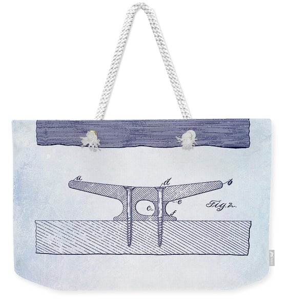 1895 Nautical Cleat Patent Weekender Tote Bag
