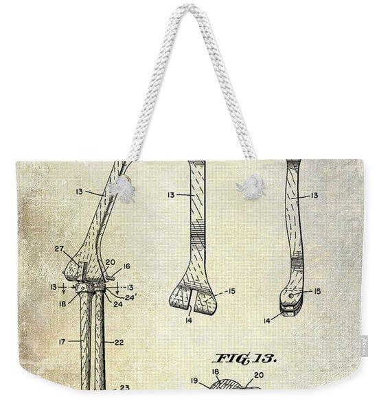 1911 Mechanical Skeleton Patent Weekender Tote Bag