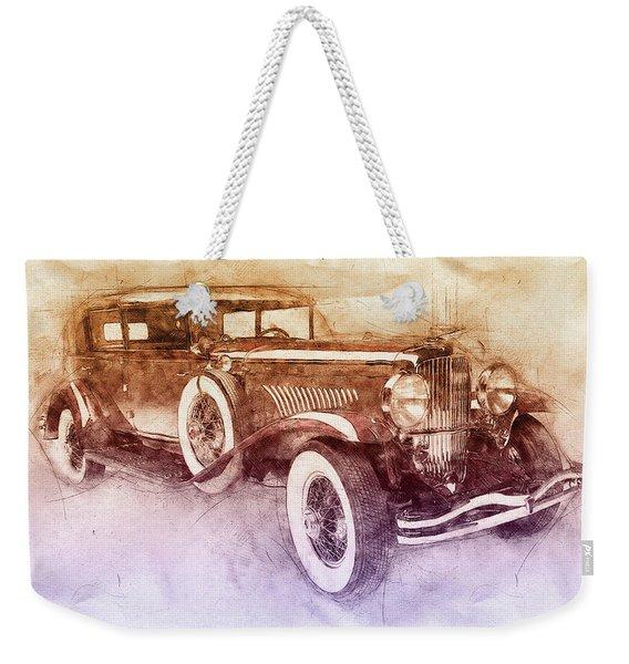 1928 Duesenberg Model J 2 - Automotive Art - Car Posters Weekender Tote Bag