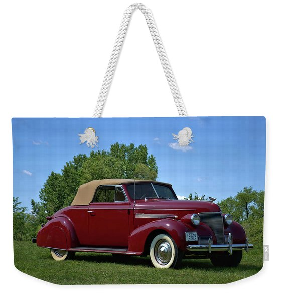 1939 Chevrolet Convertible Weekender Tote Bag