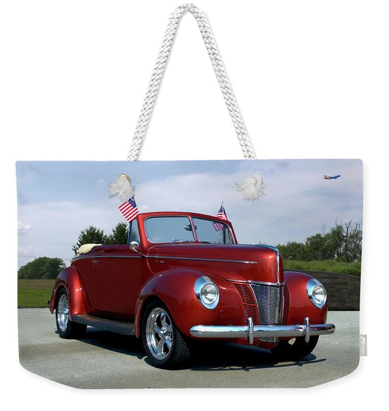 1940 Ford Convertible Weekender Tote Bag