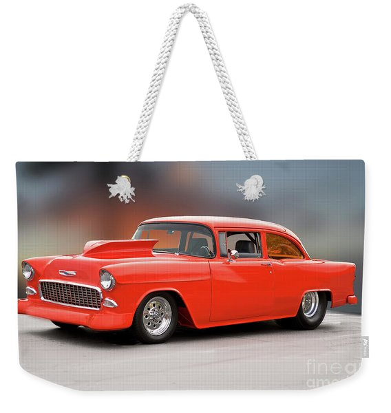 1955 Chevrolet 'wild Pro Stree' Coupe II Weekender Tote Bag