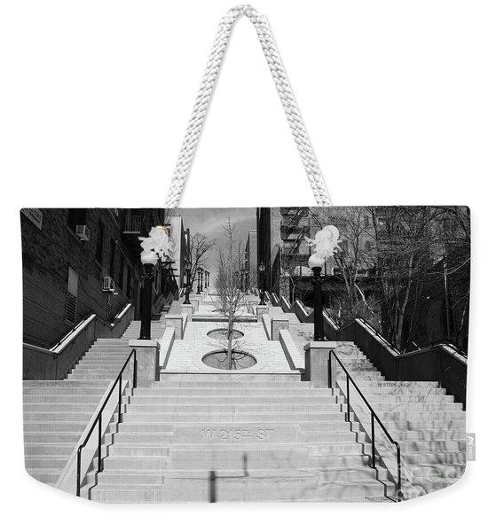 215th Street Stairs Weekender Tote Bag