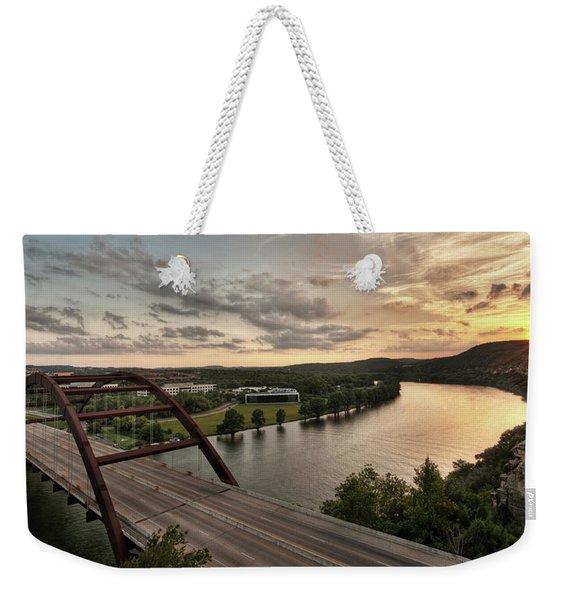 360 Bridge Sunset Weekender Tote Bag