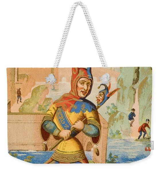A Court Fool Of The 15th Century. 19th Weekender Tote Bag