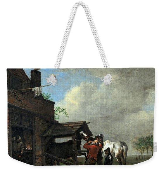 A Farrier's Shop Weekender Tote Bag