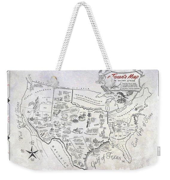 A Texan's Map Weekender Tote Bag