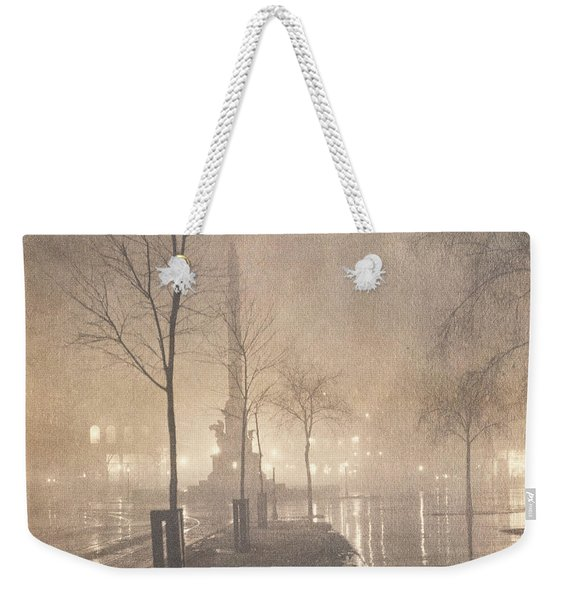 A Wet Night  Columbus Circle Weekender Tote Bag