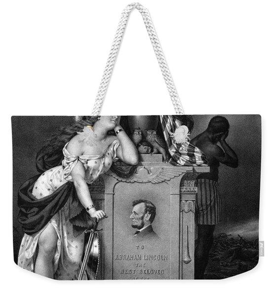 Abraham Lincoln -- In Memoriam Weekender Tote Bag
