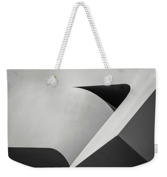 Abstract In Black And White Weekender Tote Bag