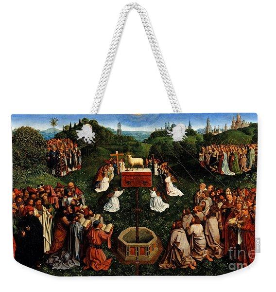 Adoration Of The Mystic Lamb Weekender Tote Bag