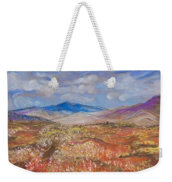 Alaskan Meadow Weekender Tote Bag