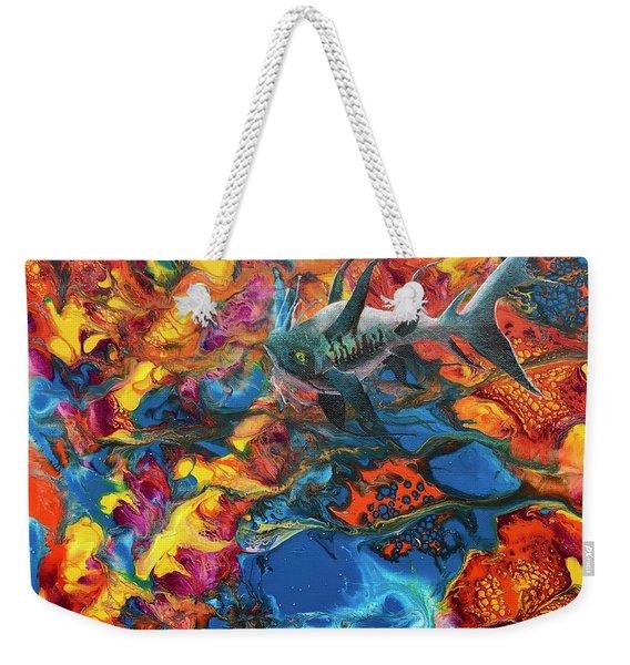 Alien Sea Weekender Tote Bag