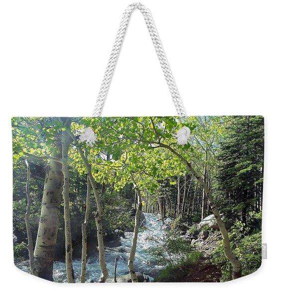 Along Alberta Falls Trail Rocky Mountain National Park Weekender Tote Bag
